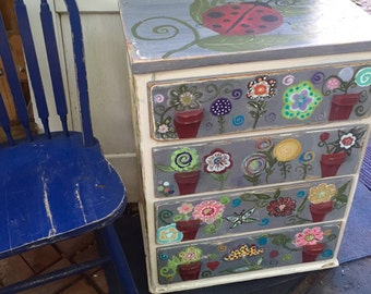 Lady Bugs Dream Home Vintage Dresser