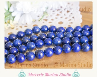 10 beads of lapis lazuli natural 10mm 8mm or 6mm top quality undyed - semi precious