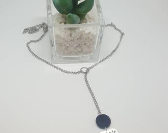 Inhale, Exhale lava stone diffuser necklace