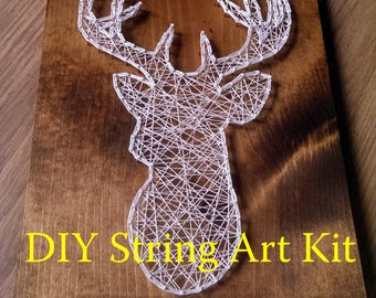 DIY deer String Art Kit, DIY String Art Kit, String Art Kit, deer String Art Kit, String Art Kit deer, DIY deer Decor Kit, Deer diy kit