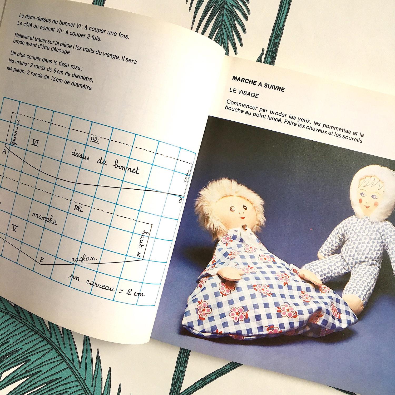 Französisch Lappen Puppen Muster Buch. Jahrgang Stoffpuppen ...