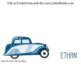Antique Car Truck Hotrod Note Cards Set of 10 personalized flat or folded cards