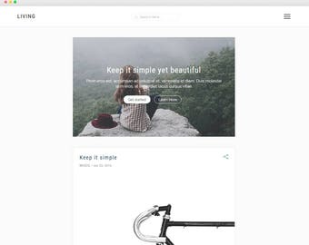 Living - Simple & Elegant Blog - A Beatiful Blog Theme -Wordpress template- Feminine wordpress theme - Responsive WordPress Theme