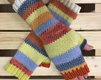 Wool - mohair fingerless Gloves, Fingerless gloves, Arm warmers ,  Fingerless Mittens - Wrist warmers - Hand warmers
