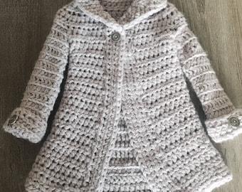 Longline Merino Coat - Crochet pattern