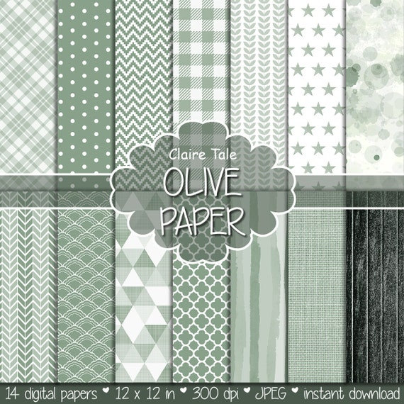 Olive digital paper, Olive digital background, Olive printable paper, Olive wood background, Olive linen printable, Olive printable pattern