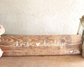 Anniversary Date Sign - Wedding Date Wood Sign - Anniversary Date Wood Sign - First Names Wedding Sign - Wedding Gift Wood Sign - Wood Sign