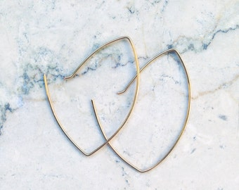 Earrings/Gold plated/hoops/hoops/modern/935 Silver
