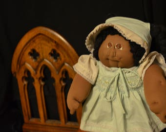 1970s Cabbage Patch Doll, Little People,Soft Sculpture,Cabbage Patch Doll,Black Doll,African American,Xavier Roberts,Rare Cabbage Patch Doll