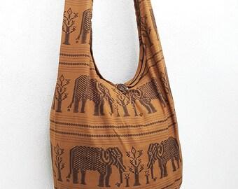 Women bag Handbags Cotton bag Elephant bag Hippie Hobo bag Boho bag Shoulder bag Sling bag Messenger bag Tote bag Crossbody bag Purse Brown