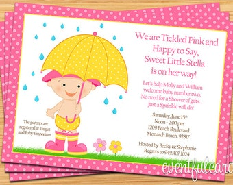 Baby Sprinkle Shower Invitation for Girl (Also Available in Boy)