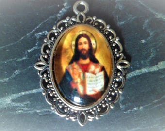 1 pendant medal Jesus 29 mm