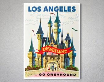 Los Angeles Disneyland Travel Poster - Art Print - Poster Print, Sticker or Canvas Print / Gift Idea