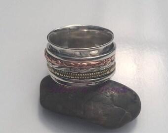 Sterling Silver Spinner/Meditation Ring