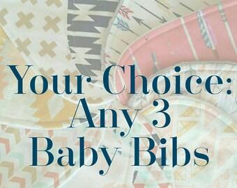 Baby Bibs - Baby Bib Set - Toddler Drool Bib - Baby Shower Gift - Bandana Bib - Baby Shower Gift - Boy Bandana Bib - Girl Bandana Bib
