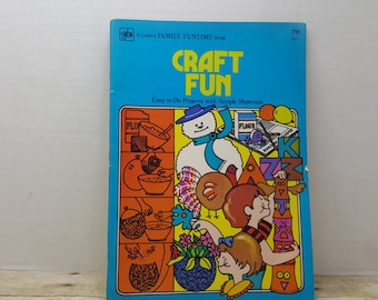 Craft fun, 1975, Golden Family Funtime Book, vintage kids book