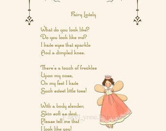 Original Fairy Poem, Instant Download, Image File, Printable Party Favor, DIY, Last Minute Gift