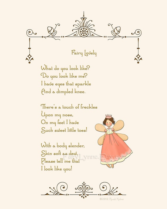 Birthday Quotes From The Quote Garden: Original Fairy Poem Instant Download Image File Printable