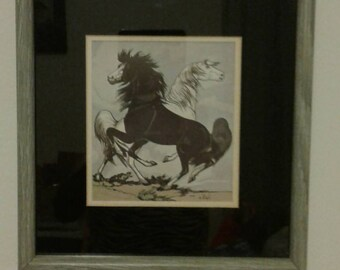 Frank Vigil (1922-1979) Apache Horses Gouache