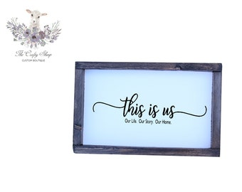 This Is Us Rustic Farmhouse Sign / Built by Hand / Hand-painted