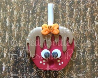 Polymer Clay - Handmade - Caramel Apple - Candy Apple - Fair Days - Handmade Polymer Clay