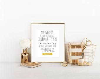 My Wish For You- Maya Angelou Typography Art Print (Digital Printable Design)