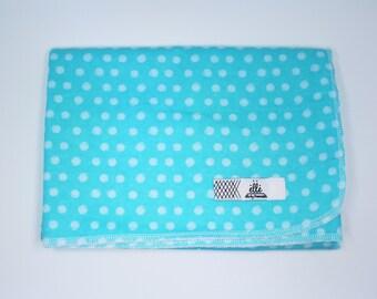 "Blue Polka Dot Extra Large Receiving Blanket - 36"" x 42"""