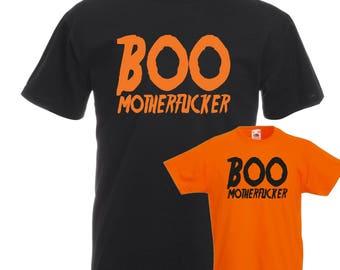 Boo Motherf***er T-Shirt, Funny, Rude, Halloween