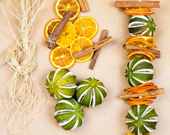 Dried Orange, Cinnamon and Lime Garland