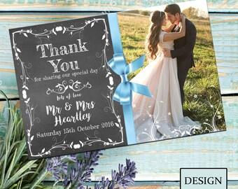 Wedding Personalised Thankyou Card No. 1