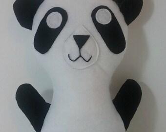 Panda Bear Felt Plush Eco Friendly Stuffed Animal