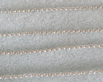 Antique Silver Plated Round Rolo Chain 2mm Lead Free 371-NSP