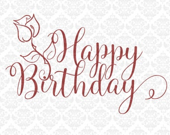 Happy Anniversary Birthday Thank You Congratulations SVG DXF STUDIO Ai Eps Vector Instant Download Commercial Cutting File Cricut Silhouette