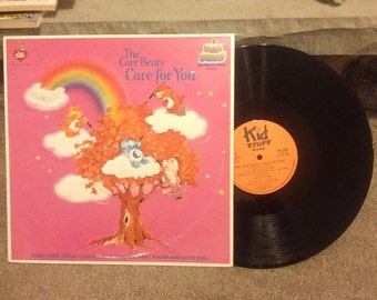 Vinyl LP Record of the Care Bears , Care for you , by Kid Stuff