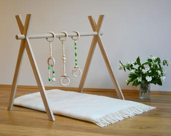 Baby gym,Montessori toy,Scandinavian design gym,Unfinished gym,Baby fitness studio,Baby activity center,Wooden baby gym,Foldable play gym,