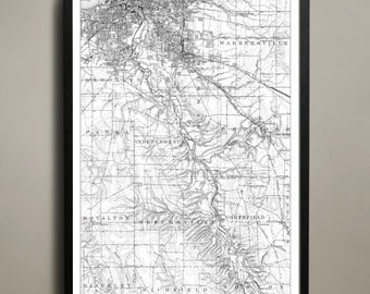Map of CLEVELAND Print, Wall Decor for your Home or Office
