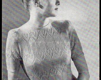 Harrap (Sirdar Wools) Lady's Jumper Knitting Pattern 1138, 1930s
