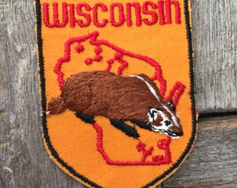 Wisconsin Vintage Souvenir Travel Patch by Baxter Lane