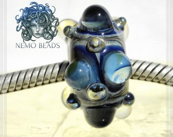 gemstone Collection Original Nemo Glass Bead , SRA, 8.5 x 17 mm OOAK