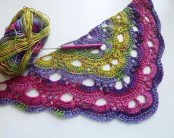 INSTANT DOWNLOAD Shell/Fan/Virus Blanket and Shawl crochet pattern.2 for the price of 1!!!