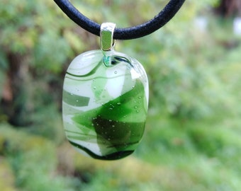 Forest Green Fused Glass Pendant