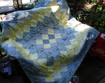Sun and clouds quilt
