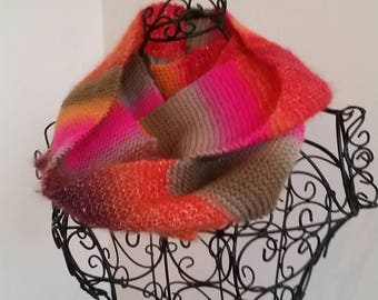 Autumn colours infinity scarf