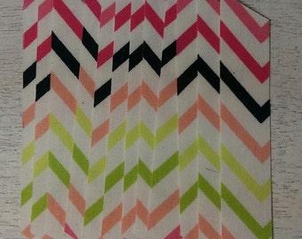 Summer Chevron Fabric Washi Tape, 12 strips