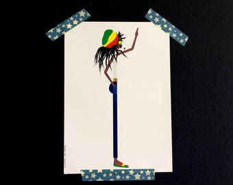Color print Rasta, illustration from the series Thins