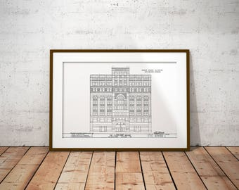Cleveland Art Print - The Arcade - Architectural Sketch - 11x17in