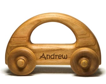 Wooden Toy Car, Personalized Wood Toy Car, Personalized Toy Gift, Baby Shower Gift, Nursery Decor