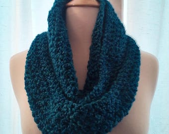 Infinity scarf in bright blue