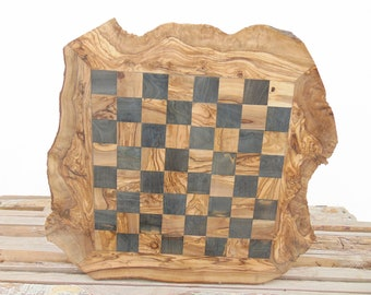 Chess Set, 20-Inch Rustic Wooden Chess Board Set, Chess Set Board Game, Dad gift, Boyfriend Gift, Birthday Gift #14
