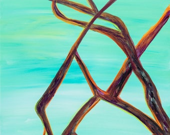 Mangroves - Colorful Abstract Art - Paper Print
